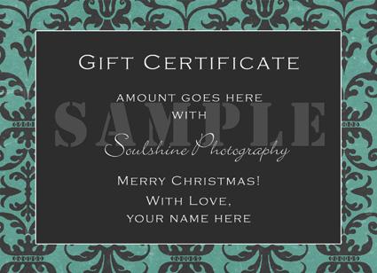 Soulshine gift certificate web